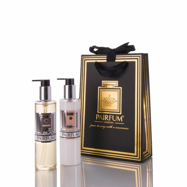 Pairfum Luxury Gift Bag Skin Care Organic Pre Biotic Hand Lotion Wash Oil