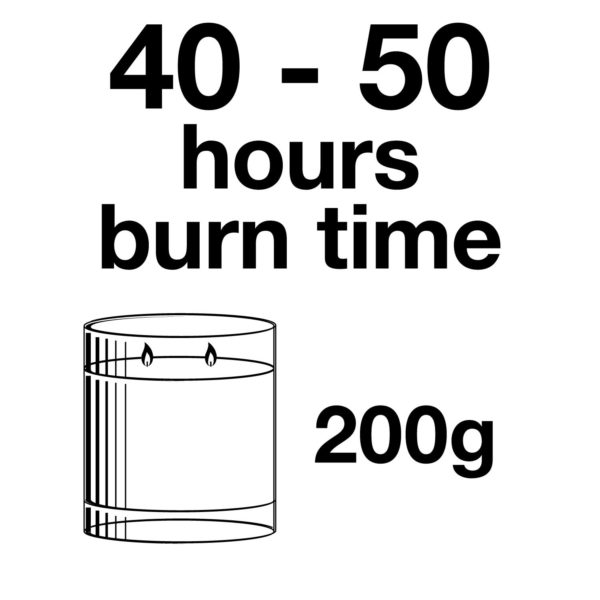 Pairfum Infographic Snow Crystal Candle Classic 200 G Burn Time