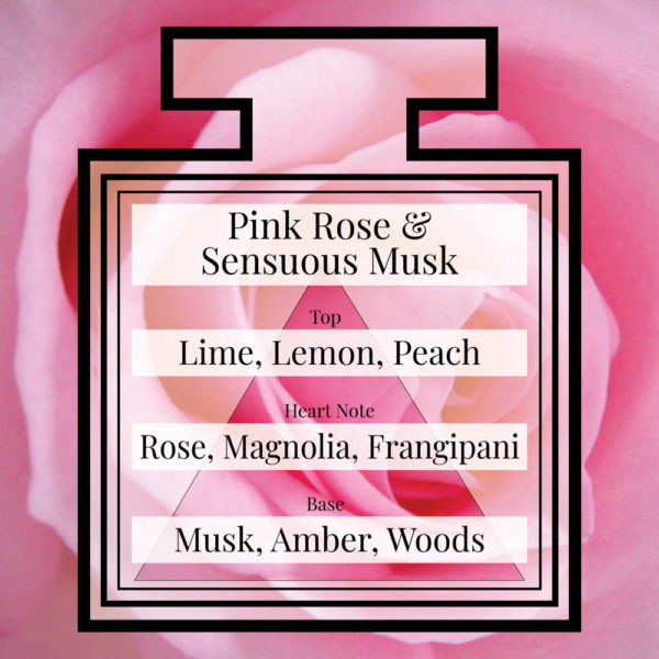 Pairfum Fragrance Pink Rose Sensuous Musk Triangle