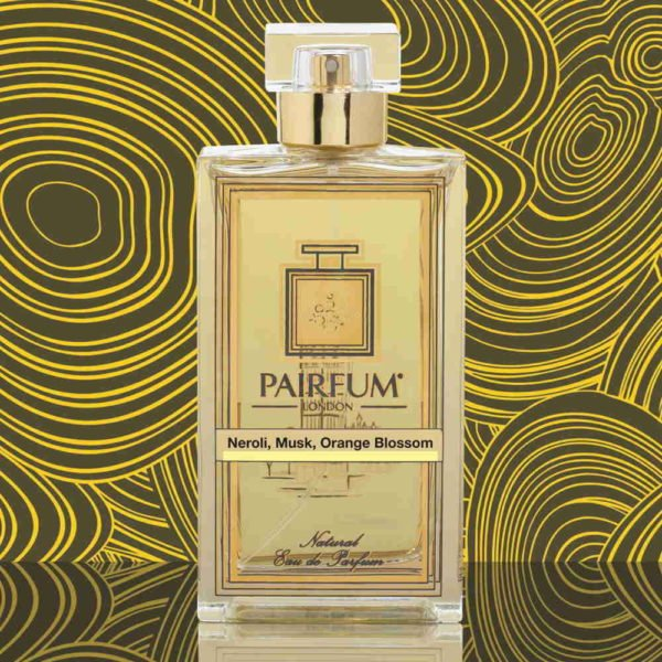 Eau De Parfum Bottle Neroli Musk Orange Blossom Gold Liquid