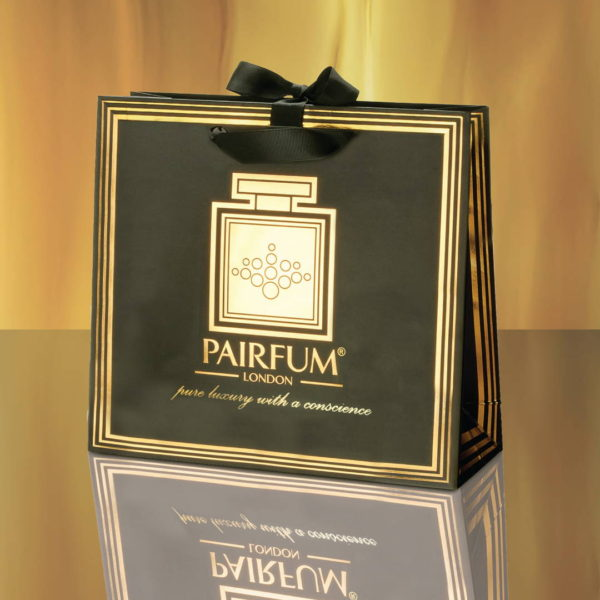 Pairfum Gold Black Luxury Carrier Bag Gift Classic Flame