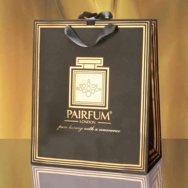 Pairfum Gold Black Luxury Carrier Bag Gift Large Flame
