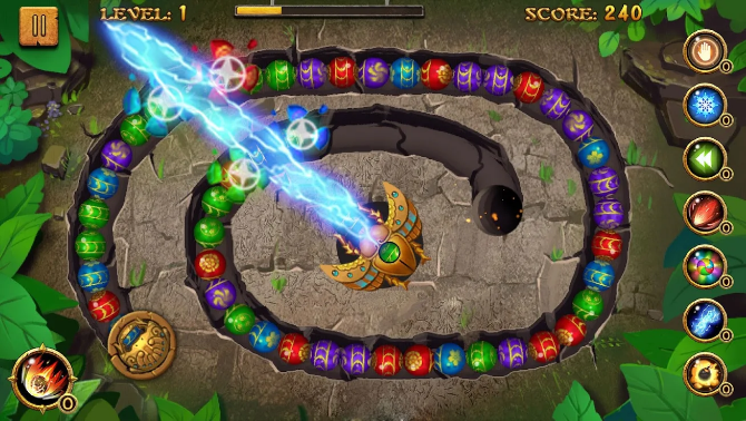 offline android games jungle marble blast
