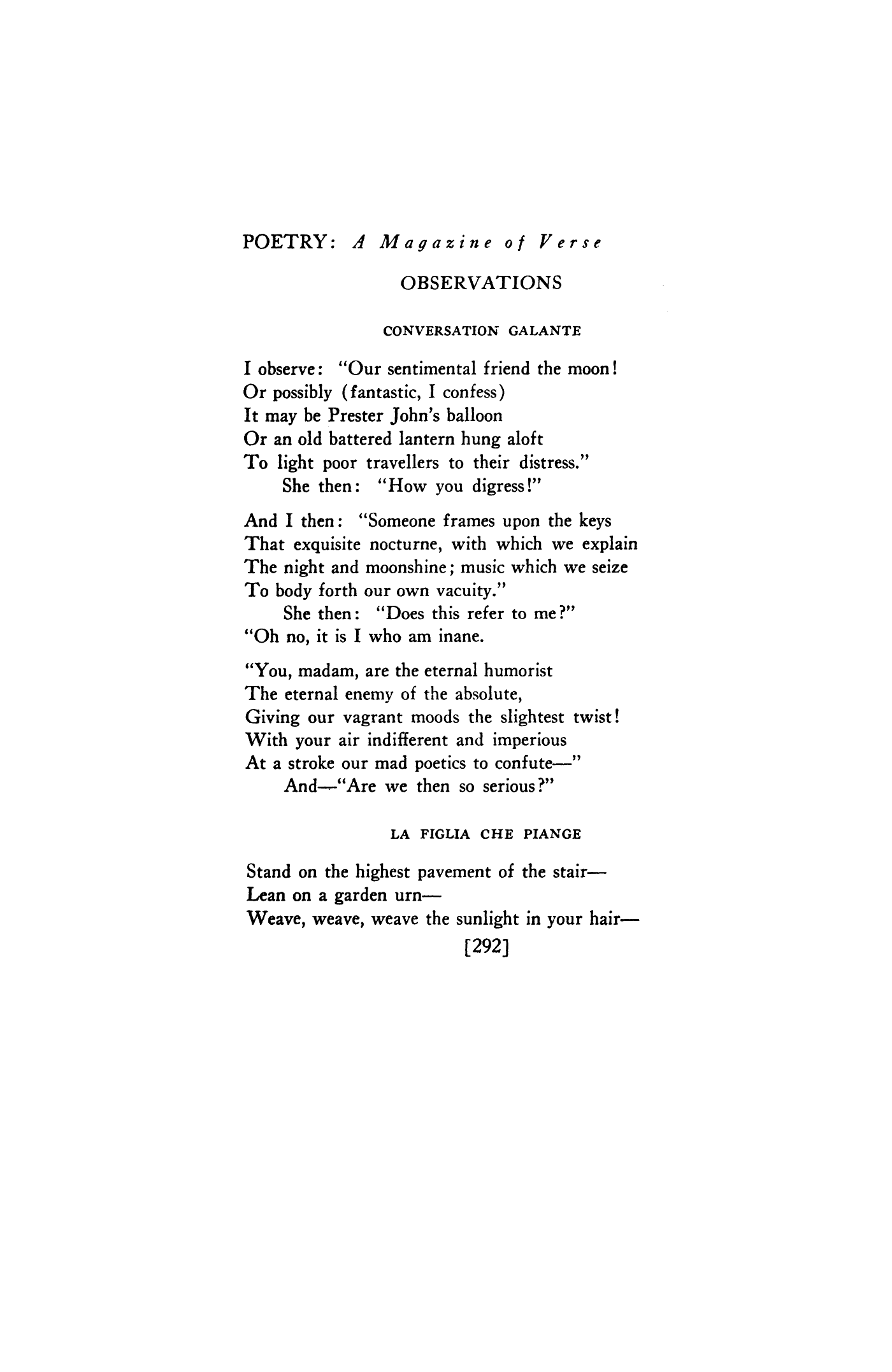 Ts Eliot Love Poems 5