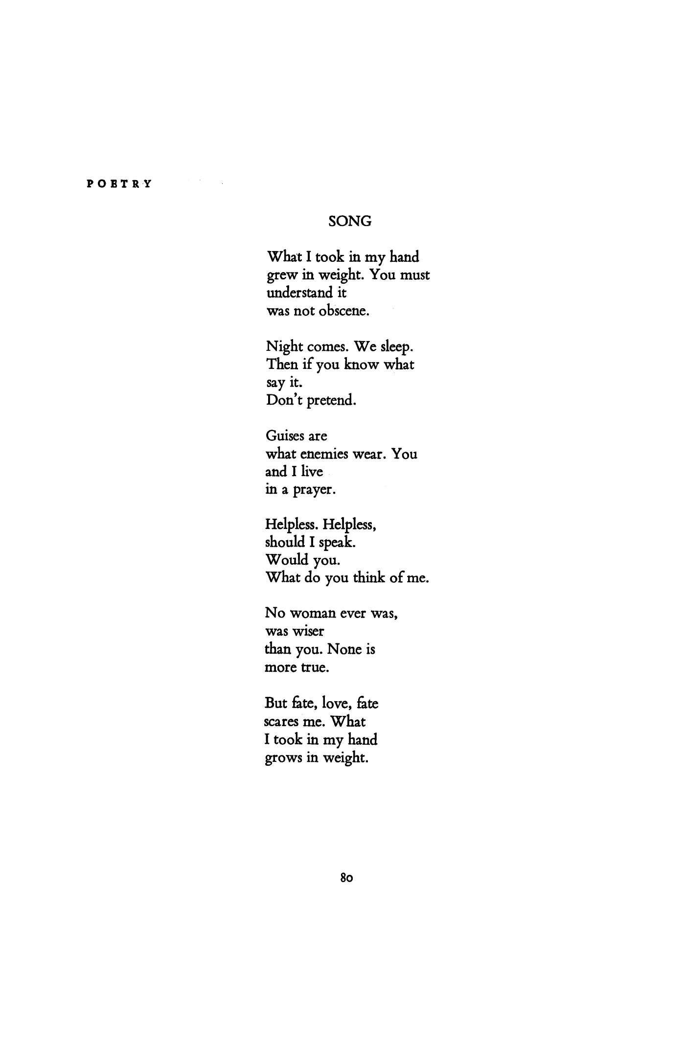 Robert Creeley Poems 2