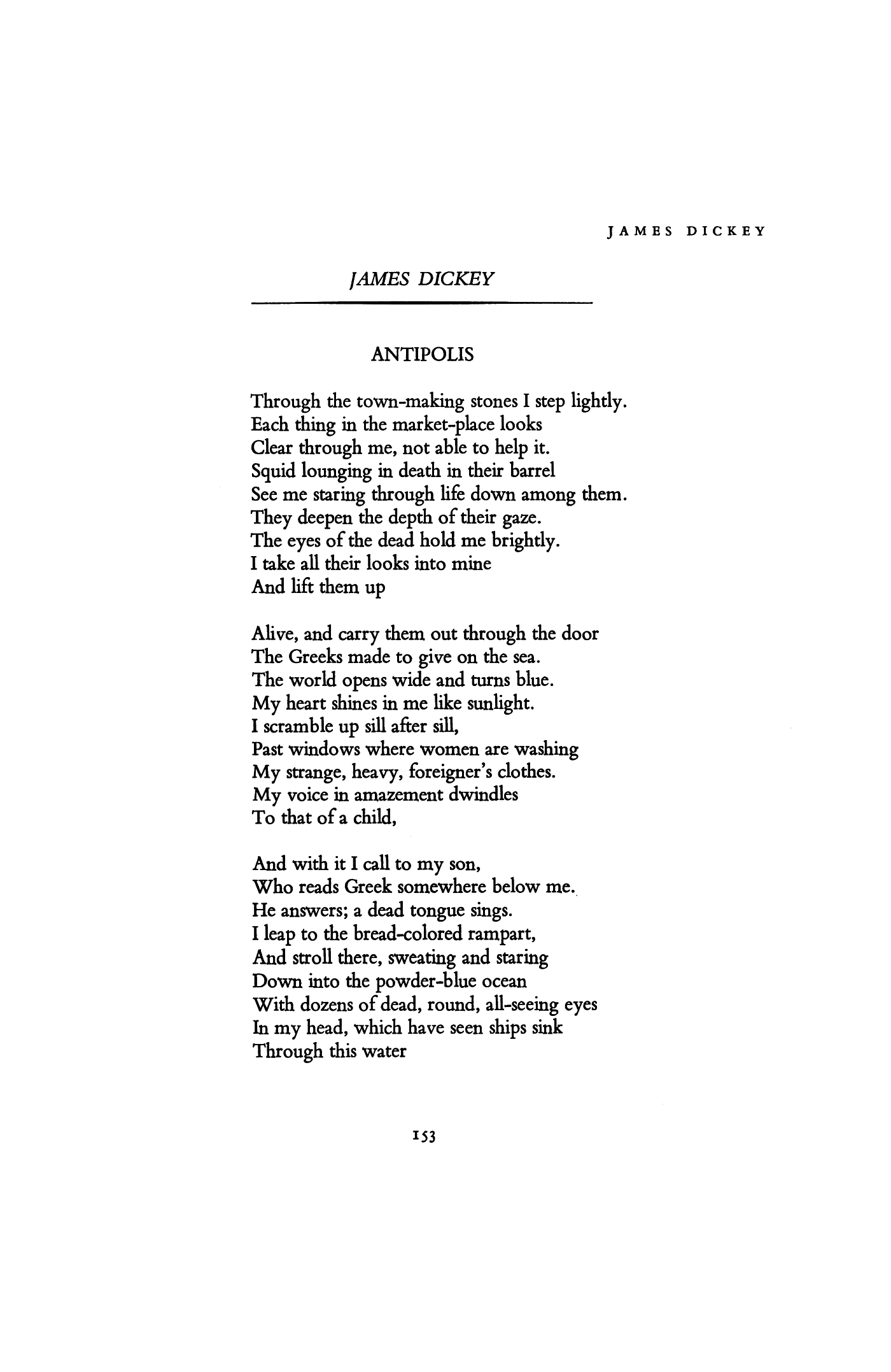 James Dickey Poems 3