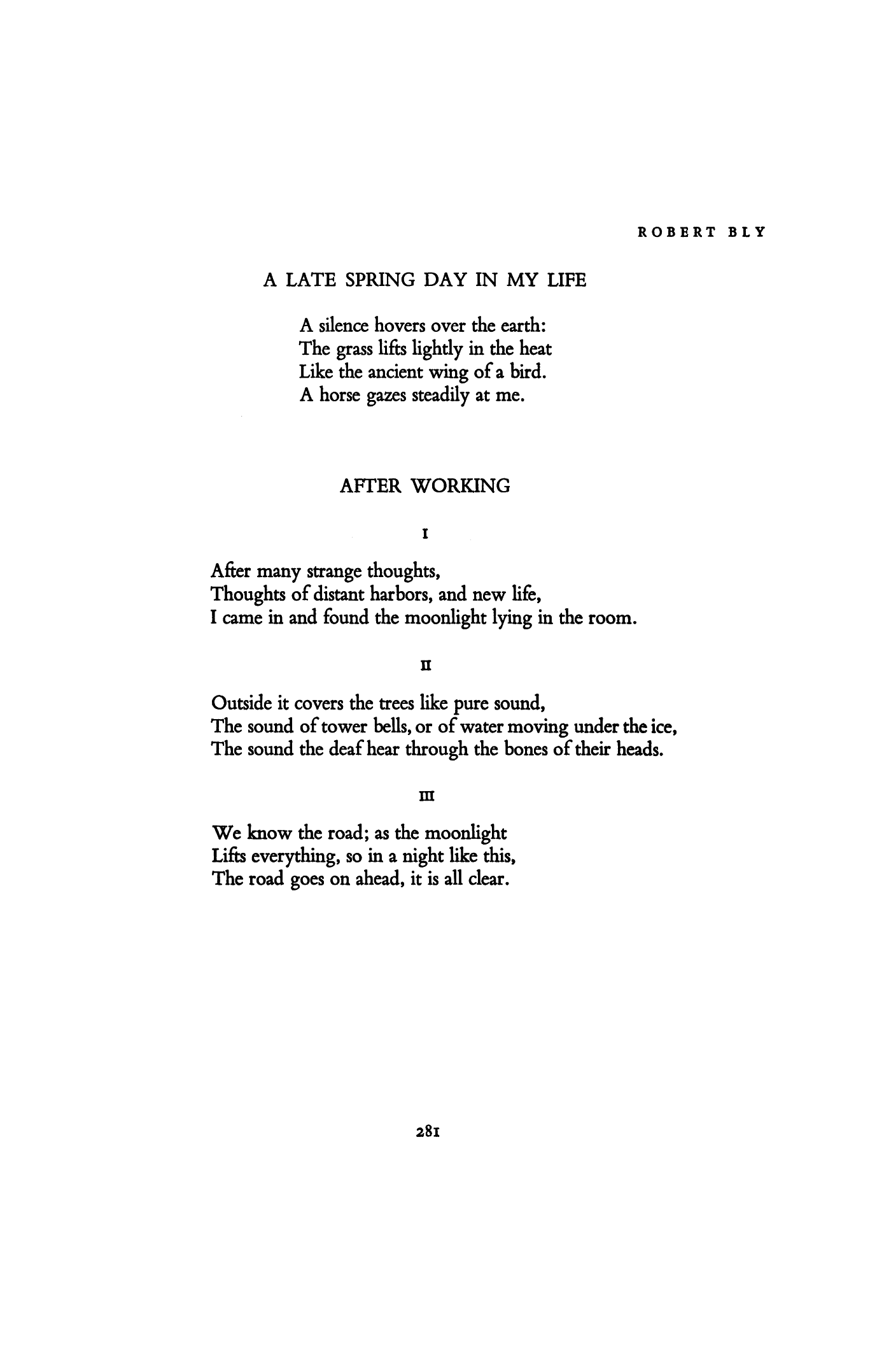 Robert Bly Poems 7