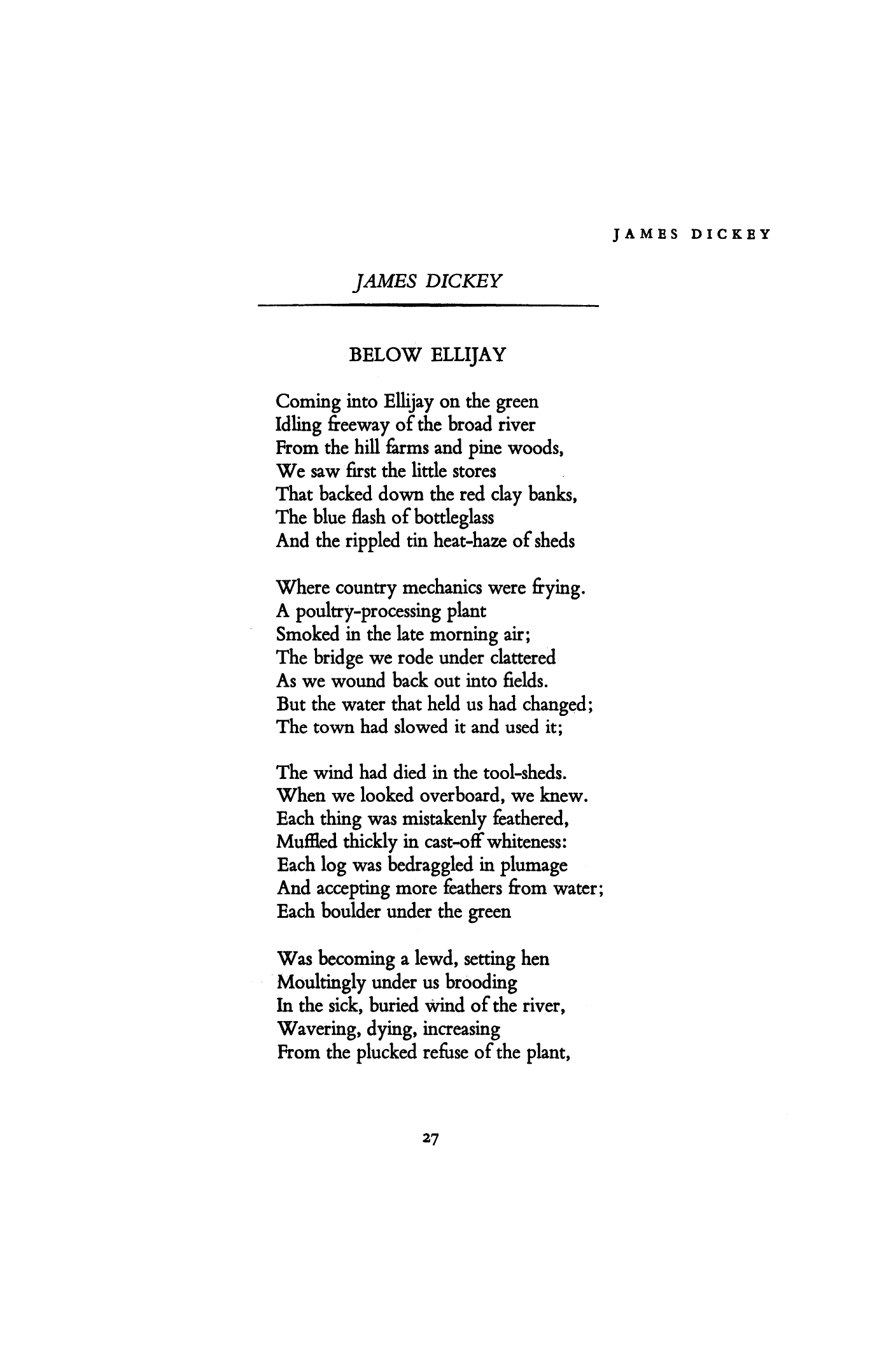 James Dickey Poems 1