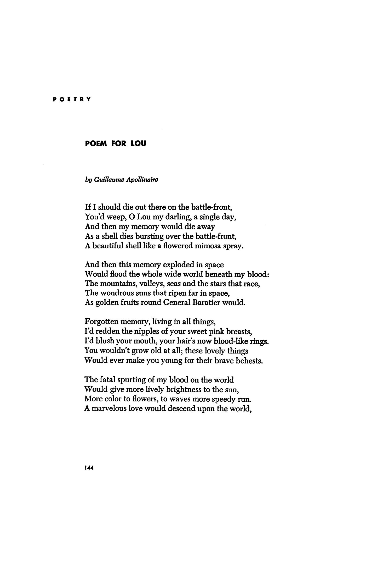 Appolinaire Poems 3