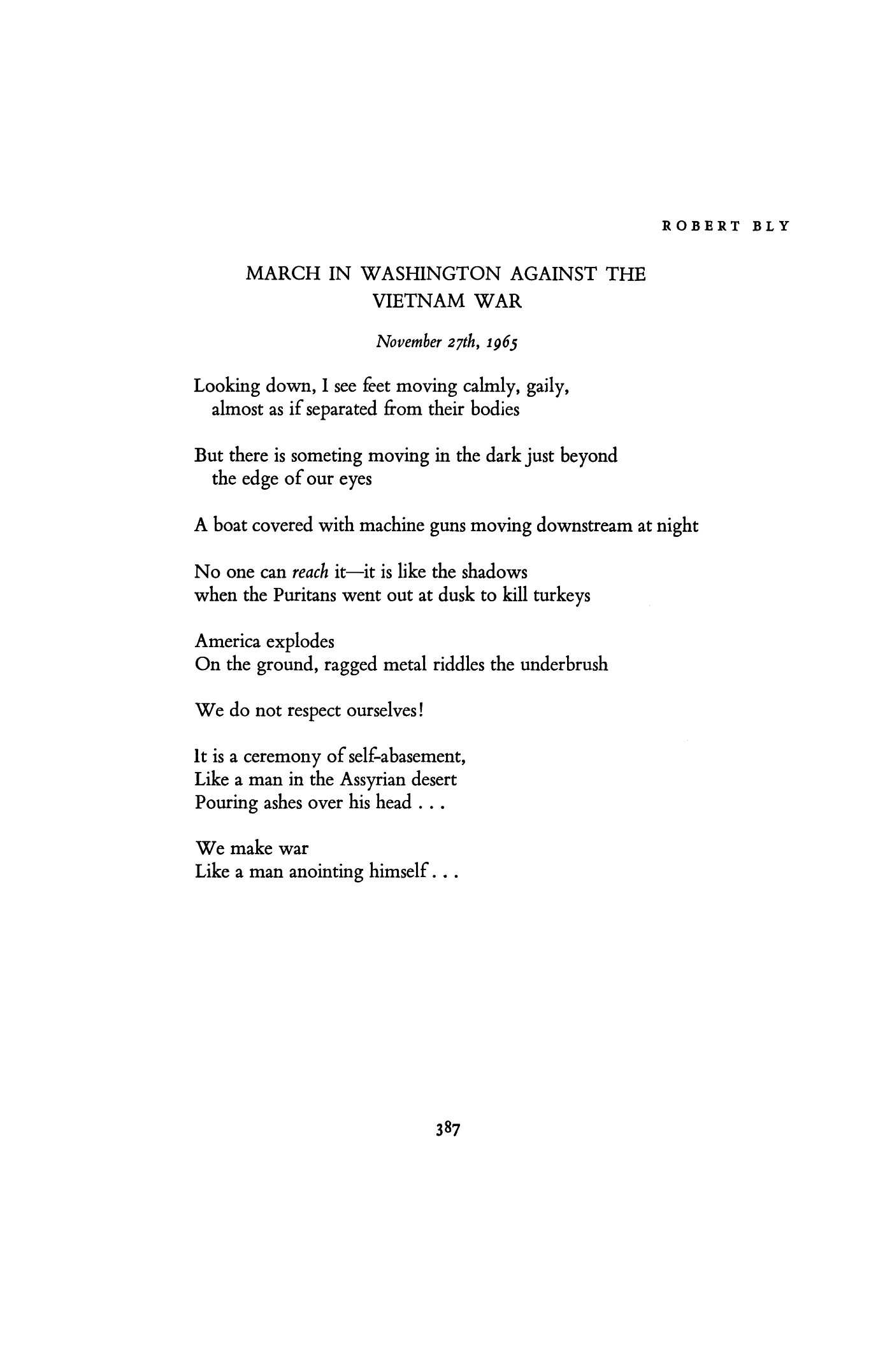 March Poems 1