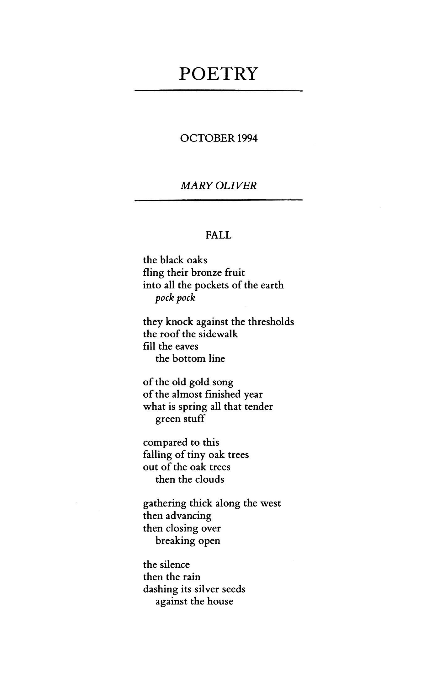 Mary Oliver Love Poems 6