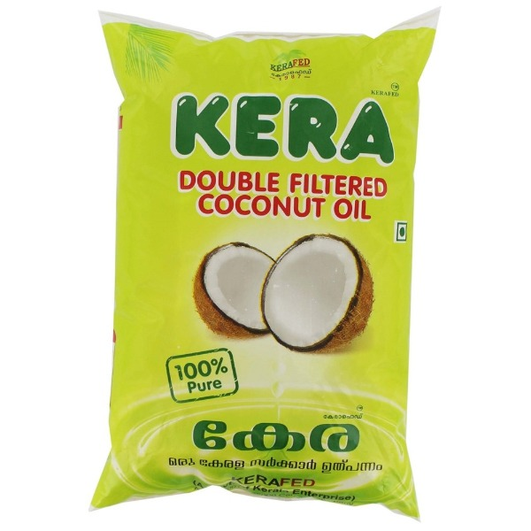 Kera Double Filtered Pure Coconut Oil ,  1 L Packet
