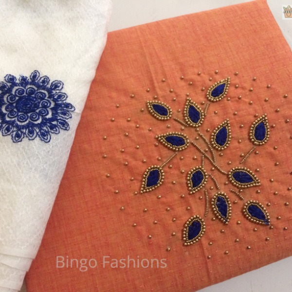 CODE : SBG 17 :: Ethnic wear with Beads and Thread Work(Peach) !!!