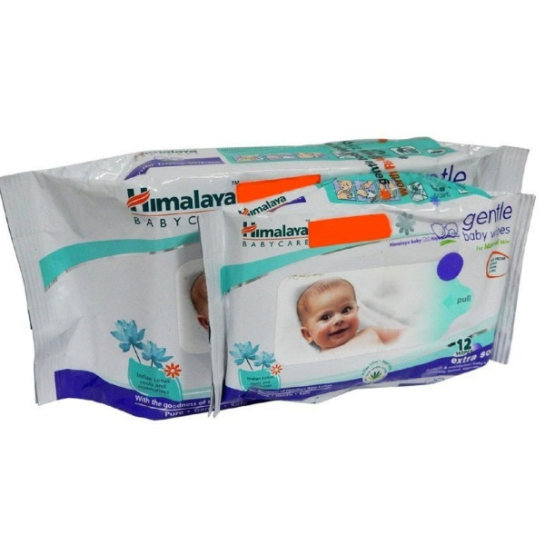 Himalaya Gentle Baby Wipes , 1 Packet (72 Wipes) + 1 Pkt (12 Wipes) FREE