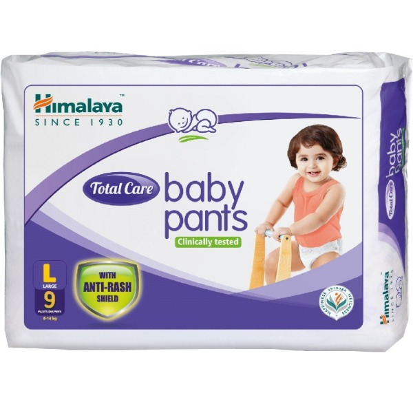 Himalaya Total Care Baby Pants (LARGE), 1 Packet (9 Pieces)