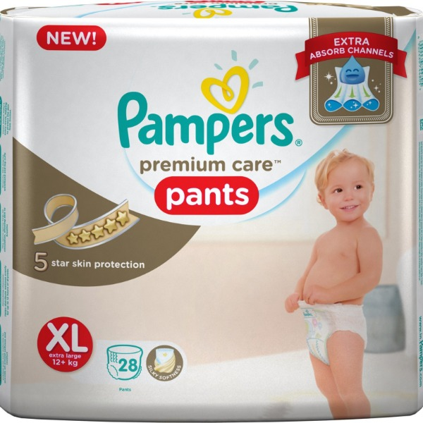 Pampers premium care pants XL extra large ( 12+ Kg ) 28 Pants , 1 Packet