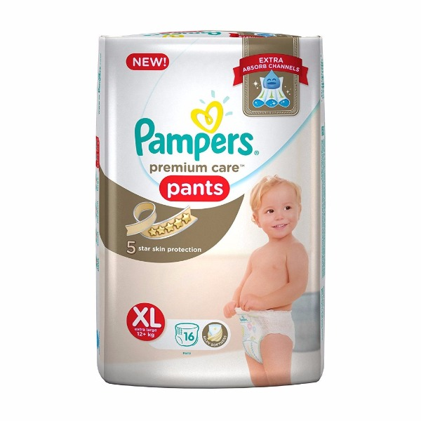 Pampers premium care pants XL extra large ( 12+ Kg ) 16 Pants , 1 Packet