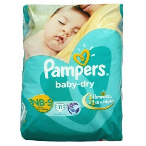 Pampers Baby-Dry NB-S new born ( up to 8 kg ) 11 Diapers , 1 Packet