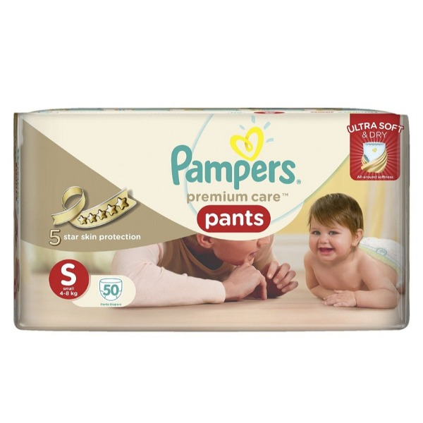 Pampers premium care pants Small ( 4 - 8 Kg ) 50 Pants , 1 Packet
