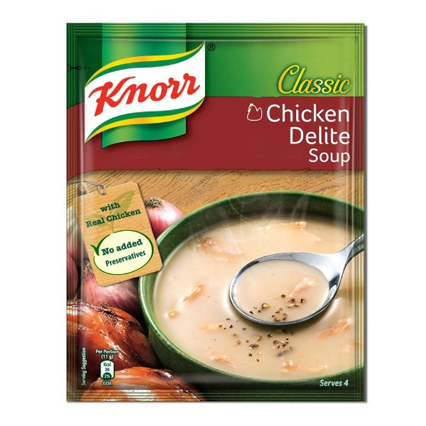 Knorr Classic Chicken Delite Soup 44  gms , 1 Packet