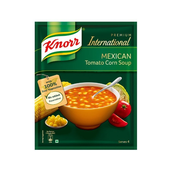 Knorr Premium International Mexican Tomato Corn Soup 52 gms , 1 Packet