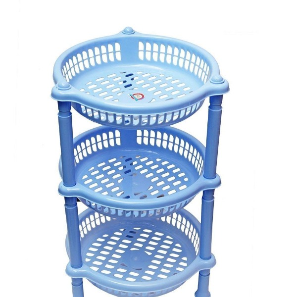 Plastic Kitchen Rack / Basket Storage / Household Stand For Fruit And Vegetable