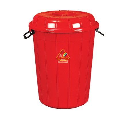 Multipurpose Plastic Storage Bucket Drum Bin with Lid and Handles 30 Ltr , 1 Pc