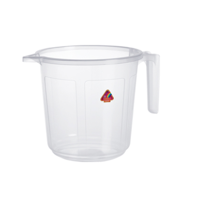 Transparent Plastic Bath Mug 1.5 L