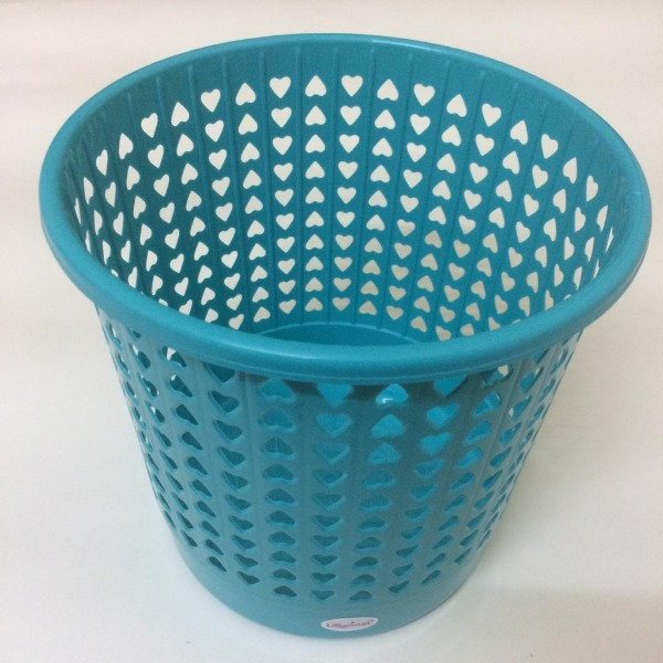Durable Round Perforated Waste Bin, 1 Pc