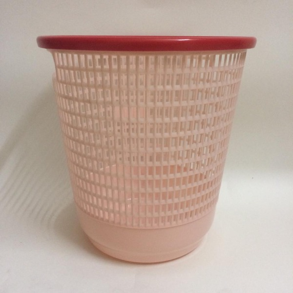 Waste Paper Basket / Bin with Ring Design ,  1 Pc