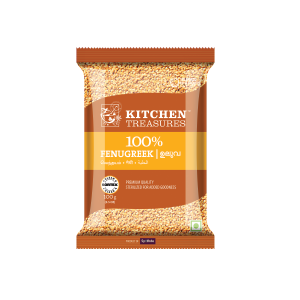 Kitchen Treasures Fenugreek Whole (Uluva) , 100 gm