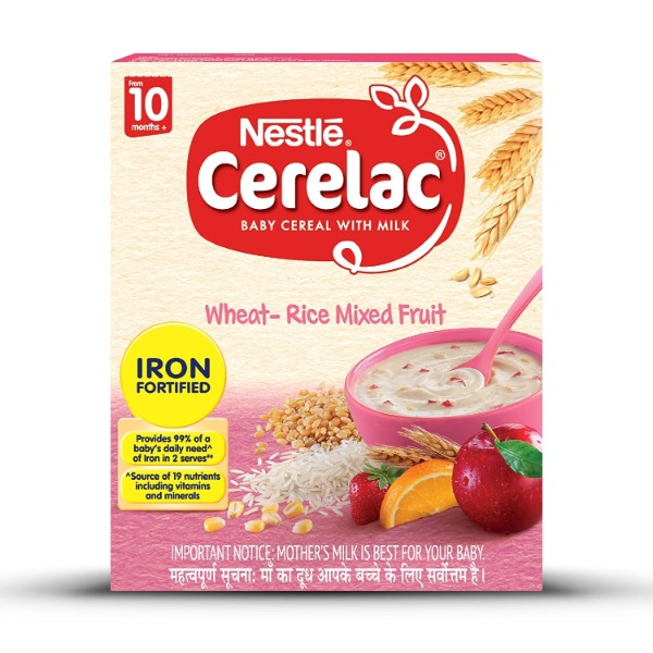 Nestle Cerelac Baby Cereal With Milk Stage 3 Wheat Rice Mixed Fruit, 300 g