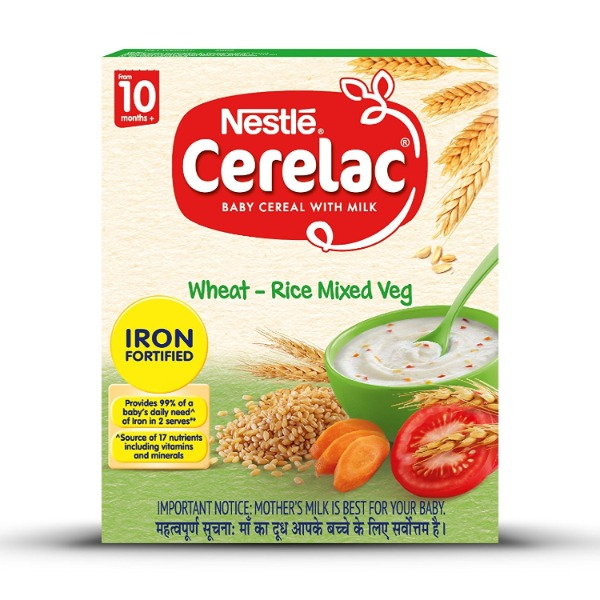Nestle Cerelac Baby Cereal With Milk Stage 3 Wheat Rice Mixed Veg, 300 g