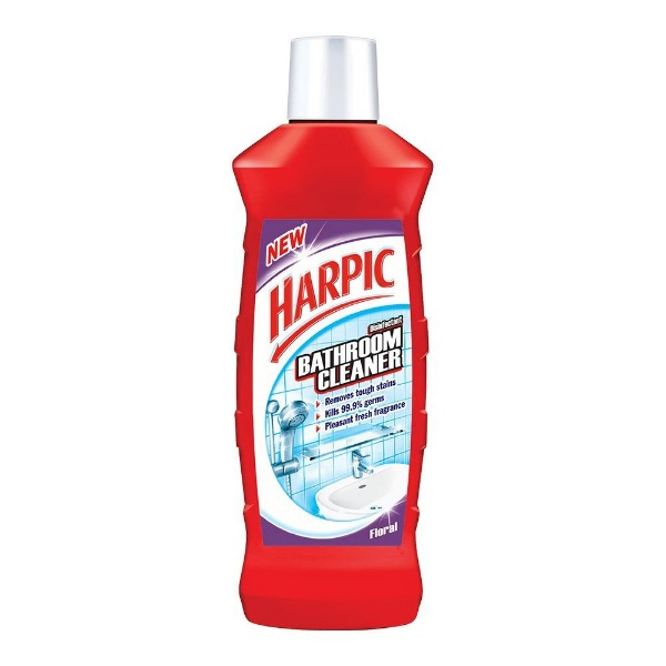 Harpic Disinfectant Bathroom Cleaning Liquid Floral (Red), 500 ml