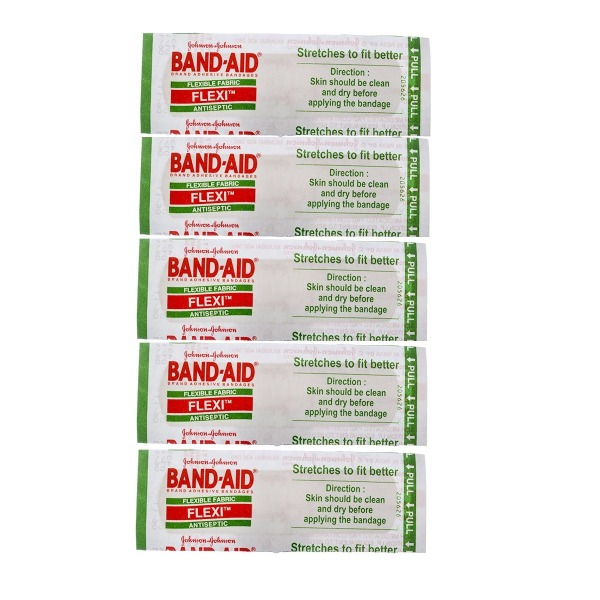 Johnson and Johnson Band Aid Adhesive Bandages, 5 Pcs