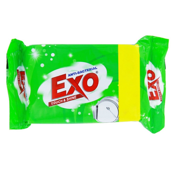 Exo Touch & Shine Anti Bacterial Dish Wash Bar,  125g ( + 15g Extra)