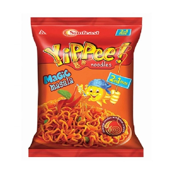 Sunfeast Yippee Noodles Magic Masala, Two in One Pack ( 2 in 1 Pack ), 140g