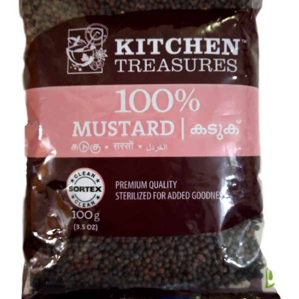 Kitchen Treasures Mustard Seeds Whole (Kaduku), 250 gm