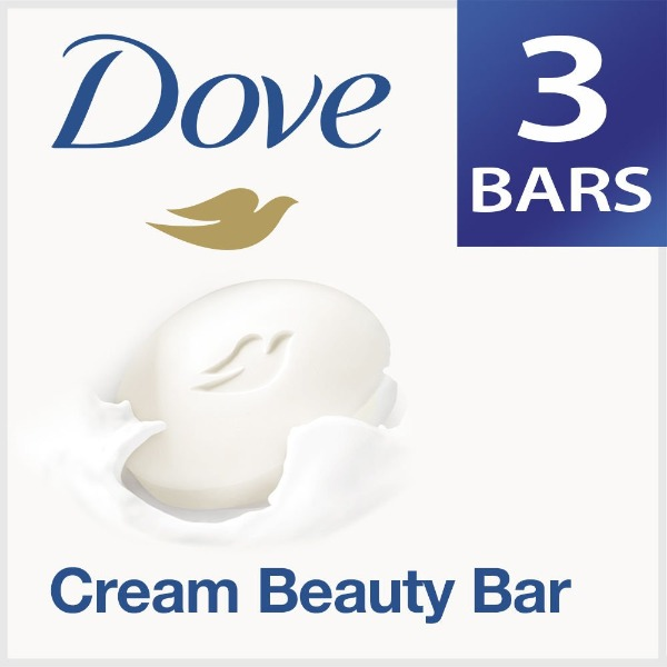 Dove Cream Beauty Bathing Bar, 75g (Pack of 3) with Free 75 g