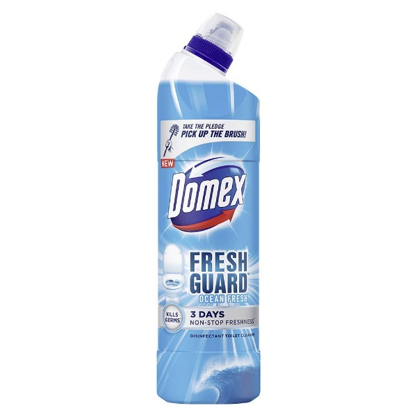 Domex Fresh Guard Ocean Fresh Disinfectant Toilet Cleaner, 250 ml