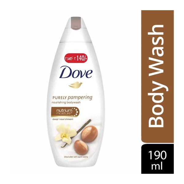 Dove Purely Pampering Nourishing Body Wash Shea Butter with Warm Vanilla , 190 ml( Rs. 20 off)