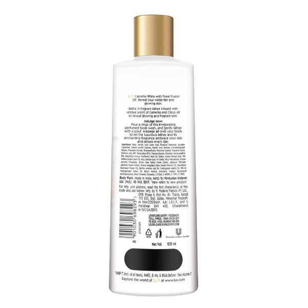 Lux Body wash Camellia White , 235 ml