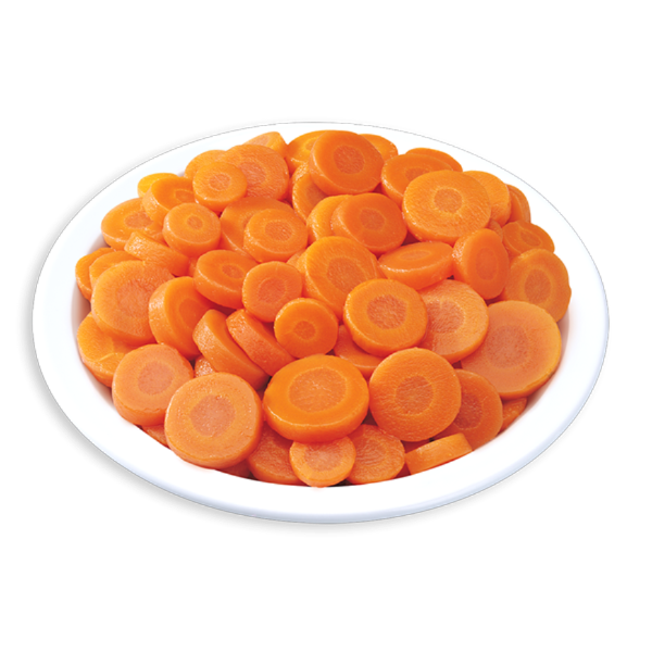BingoFresh Premium Carrot Round Slice Cuts - Thin