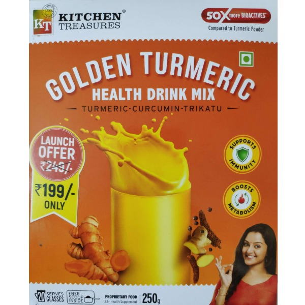 Kitchen Treasures Golden Turmeric Health Drink Mix