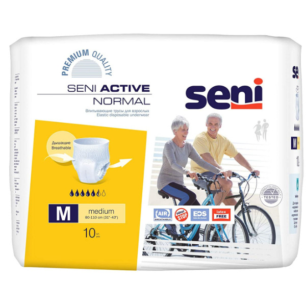 Seni Active Normal disposable underwear (10 Units Pack)