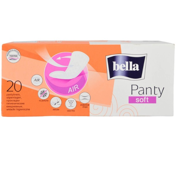 Bella Panty Liners - Soft 20 Pieces Carton