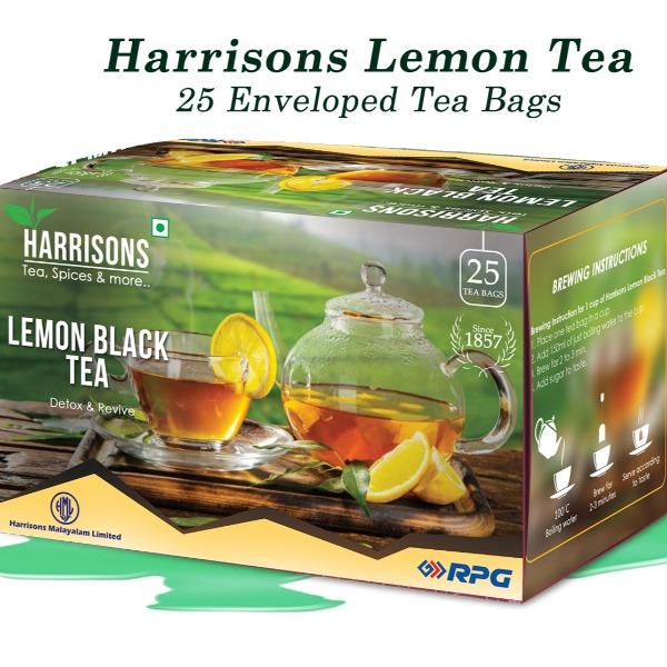 Harrisons  Lemon Black Tea , 50 gm