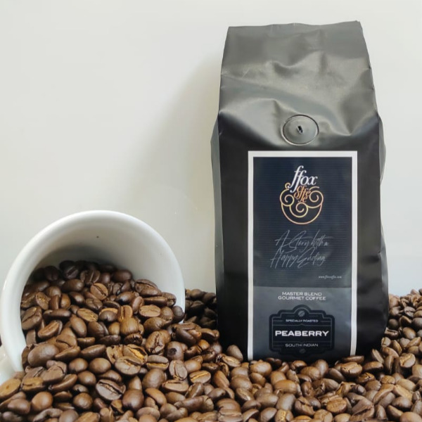 FFOX Coffee - Peaberry (Whole bean / Ground coffee) , 250g Pouch