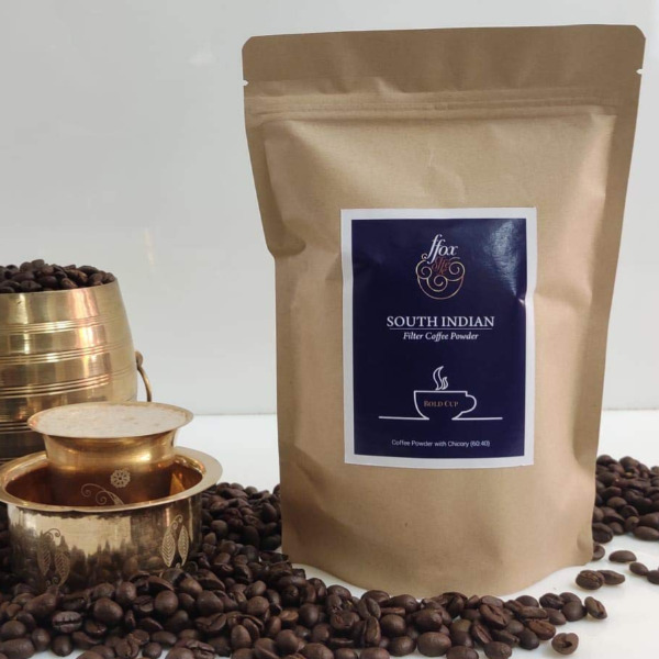 FFOX Coffee - South Indian Pure Aromatic Filter Coffee Powder with Chicory 60:40, 200gm Pouch