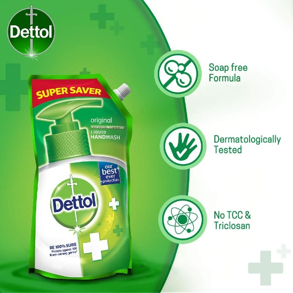 Dettol Original Germ Protection Liquid Handwash Refill , 750ml